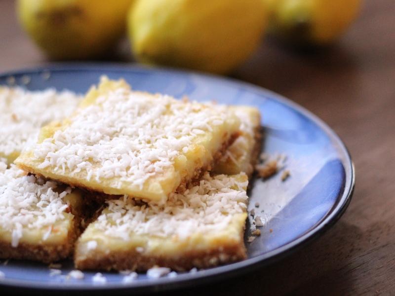 Gluten Free Coconut Lemon Squares | thetexitarian