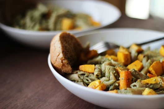 Penne with Roasted Butternut Squash and Sage Pesto