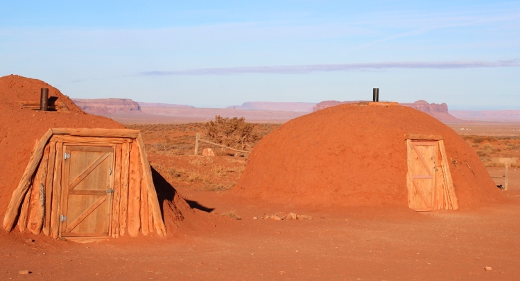 Navajo Hogan in Monument Valley