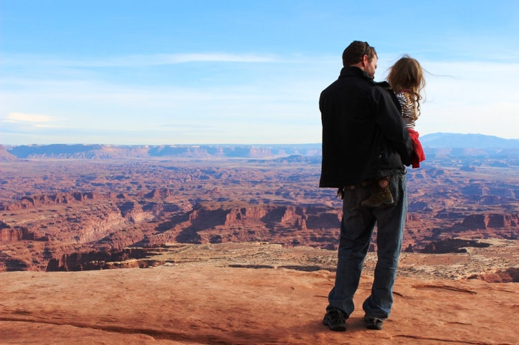 On the Edge of a Cliff at Canyonlands