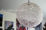 DIY Yarn Pendant