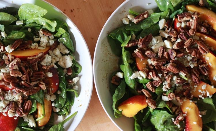 Nectarine Spinach Salad