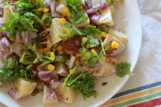 Spicy Potato and Corn Salad