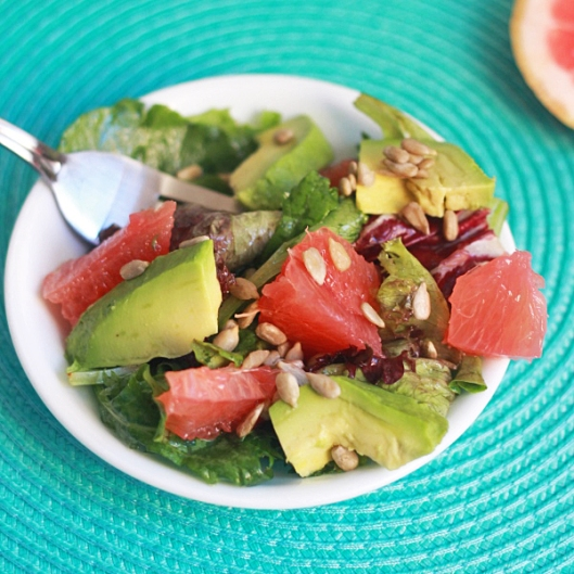 Ruby Red Grapefruit and Avocado Salad Square