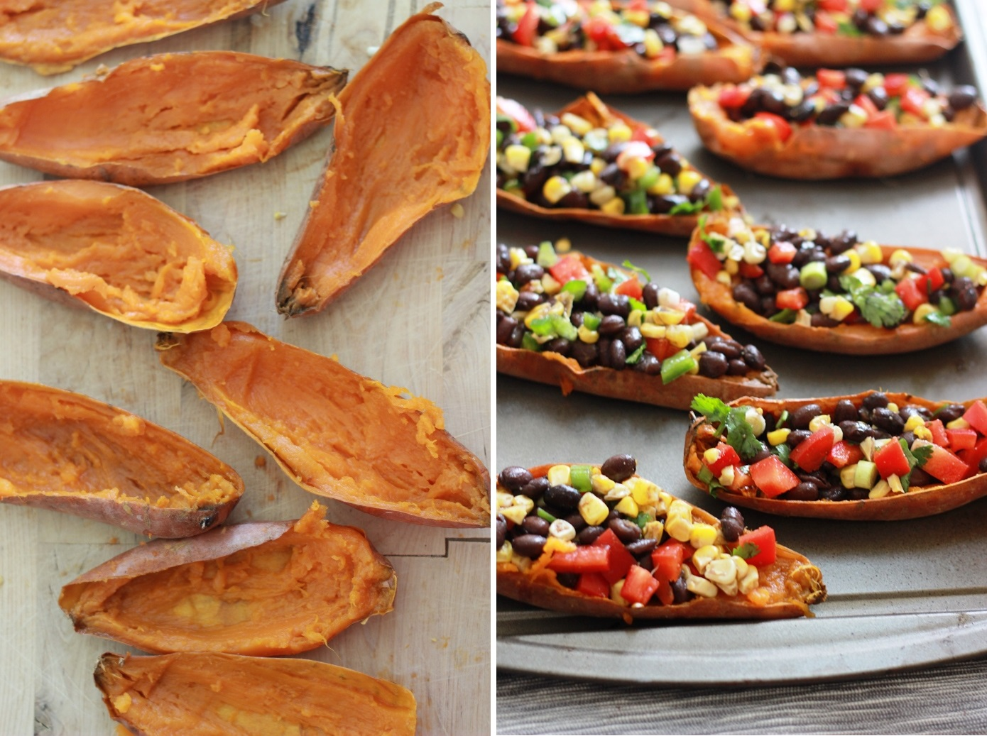 Southwest Sweet Potato Skins with Chipotle Yogurt Dipping ...