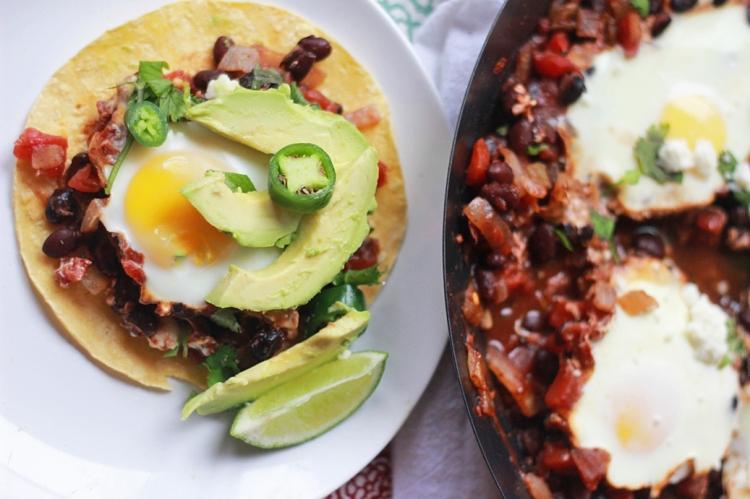 Baked Huevos Rancheros Vegetarian
