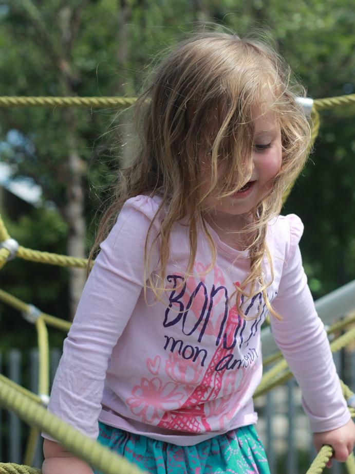 Klyde Warren Childrens park climbing structure
