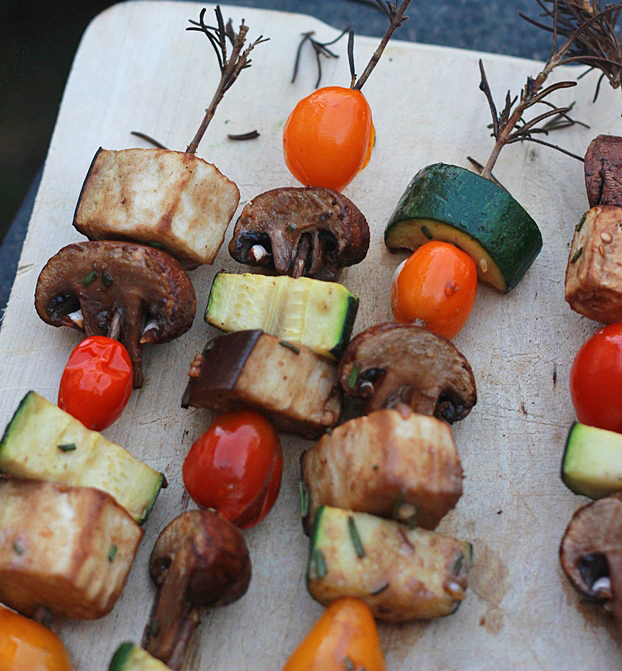 Rosemary Skewers Grilled