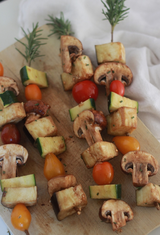 Rosemary Skewers with balsamic Veggies