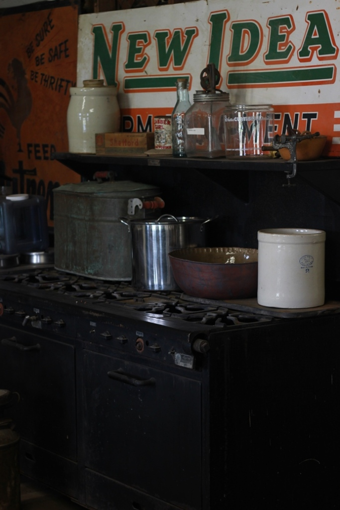 Stove at Medicine Mound Museum