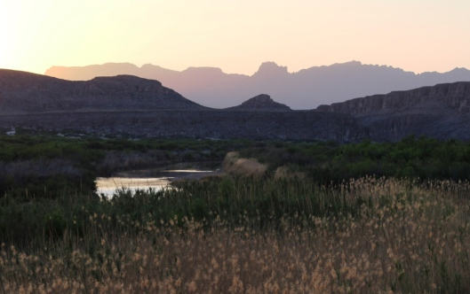 Sunset from Rio Grande Village Nature Trail