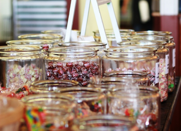 Candy Jars at Mom's on Main