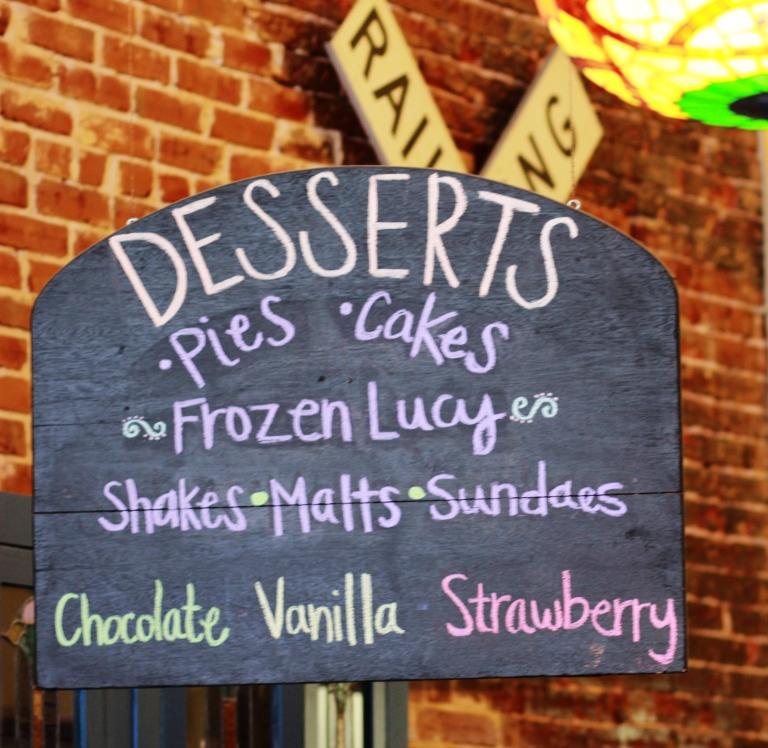 Desserts at Mom's on Main