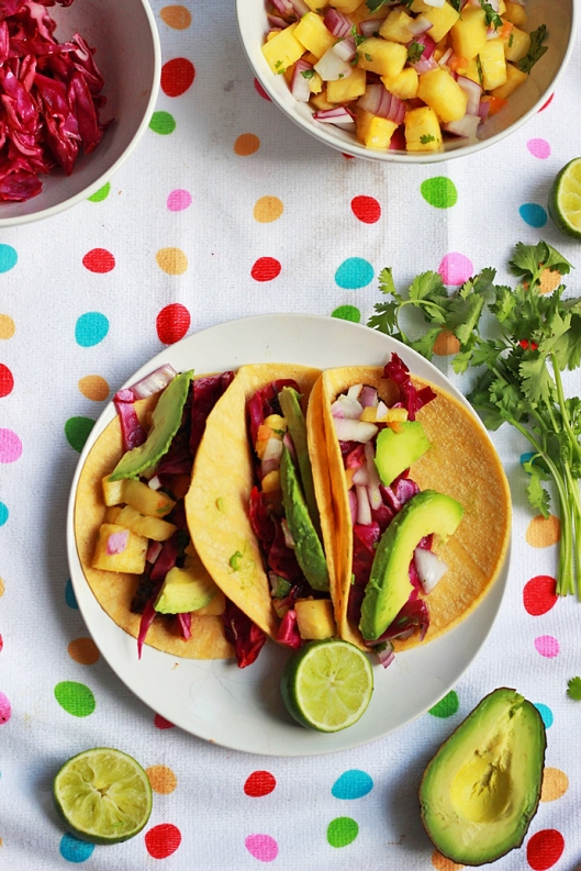 Grilled Mushroom Tacos with Pineapple Salsa