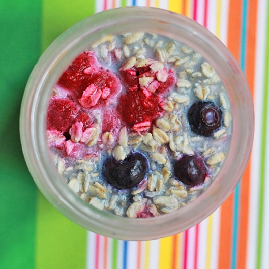 Jar of Berry Overnight Oats