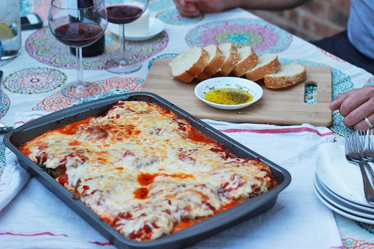 Scalini's Eggplant Parmesan