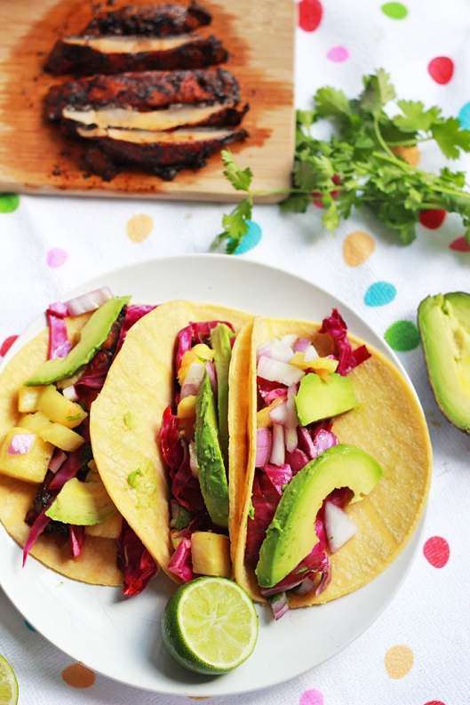 Veggie Tacos with Adobo Lime Portabellos